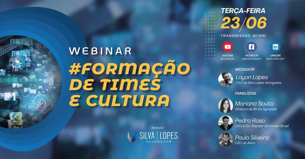 """Webinar """"Formação de times e cultura"""" acontece no dia 23 deste mês"""