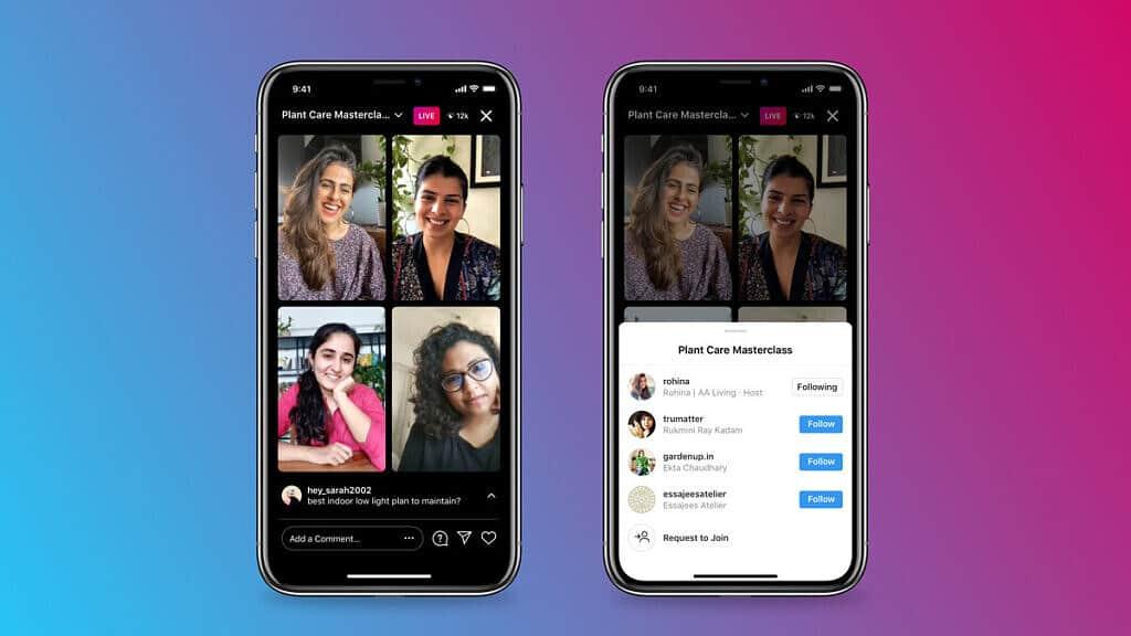 Instagram disponibiliza lives com até quatro pessoas